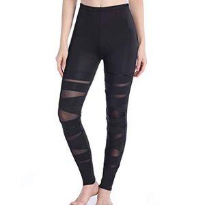Pants - Bandage Mesh Leggings Medium